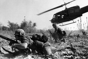 Combat operations at Ia Drang Valley, Vietnam