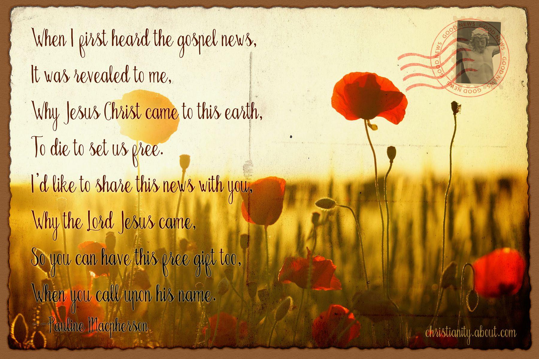 Christian Poem Presenting God s Gift of Salvation