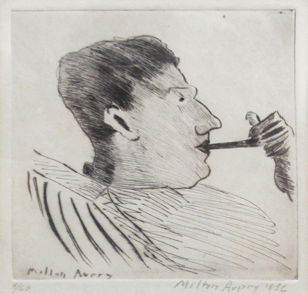 milton avery rothko with pipe