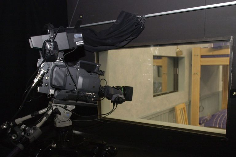 Camera Filming Through A Two Way Mirror