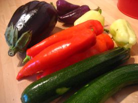 A mixed pile of vegetables