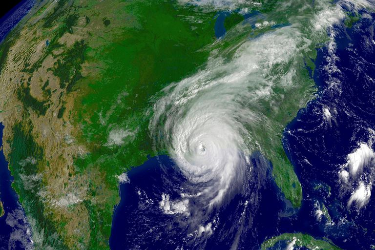 Hurricane Katrina satellite image.
