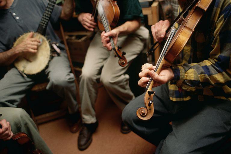 Bluegrass Musicians Rehearsing