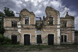 War Damaged Train Station, Vukovar, Croatia