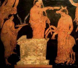 Sacrifice of Iphigenia. Illioupersis Painter.