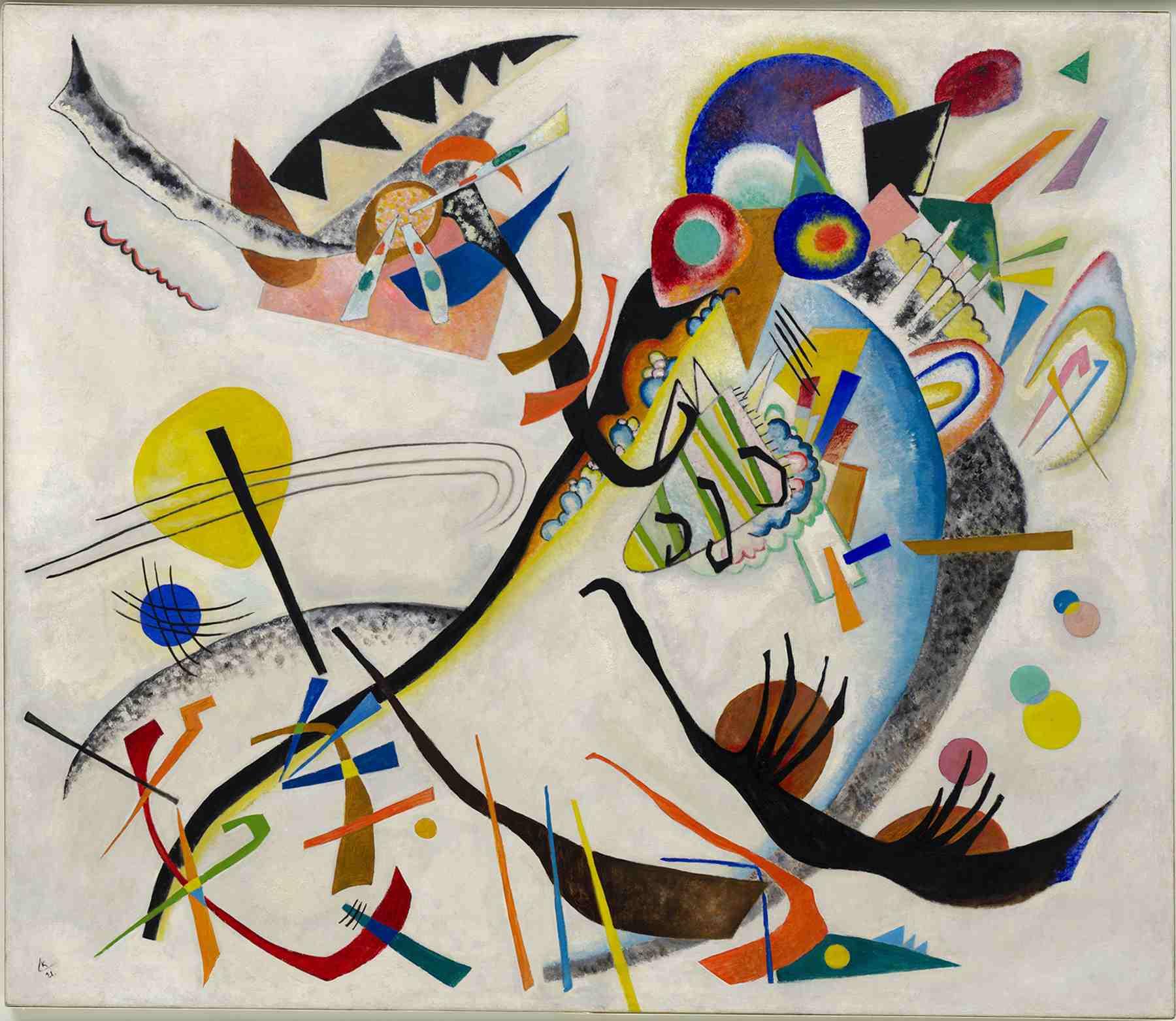 Wassily Kandinsky (Russian, 1866-1944) Wassily Kandinsky (Russian, 1866-1944). Blue Segment (Blaues Segment), 1921. Oil on canvas. 47 1/2 x 55 1/8 in. (120.6 x 140.1 cm). Solomon R. Guggenheim Founding Collection 49.1181. Solomon R. Guggenheim Museum, New York.