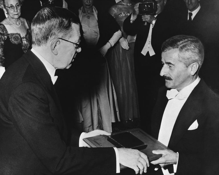 William Faulkner Receiving the Nobel Prize