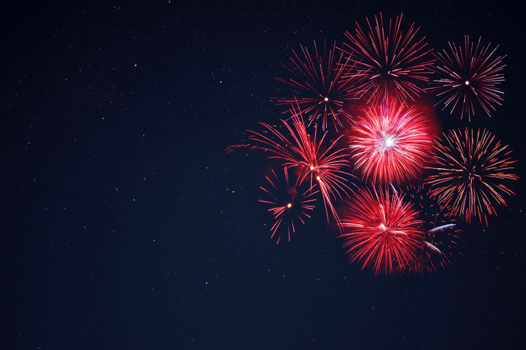 Strontium imparts a red color to fireworks.