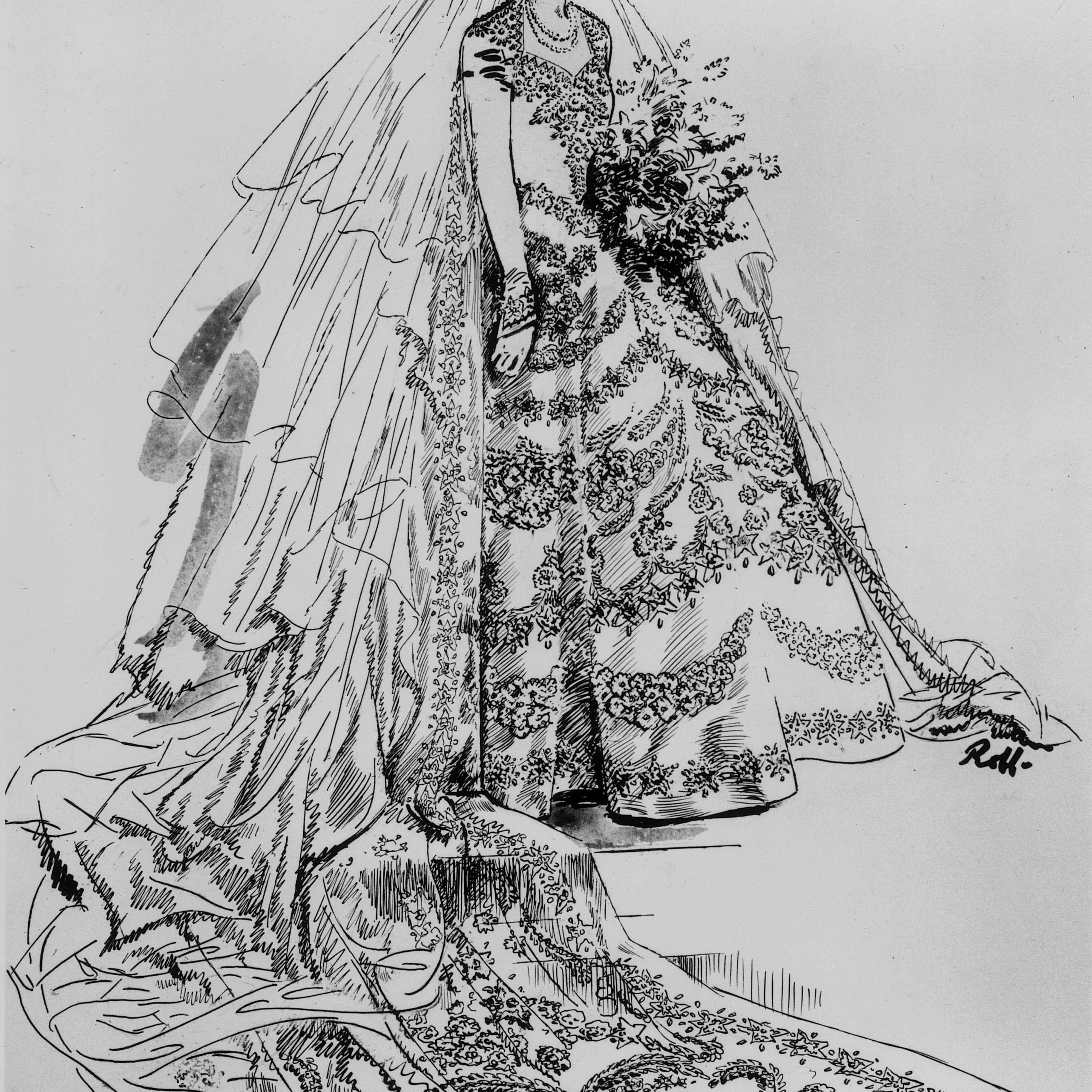 ウェディングドレス女王エリザベス2世