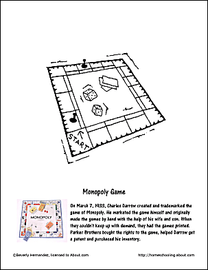 monoply coloring pages - photo#26