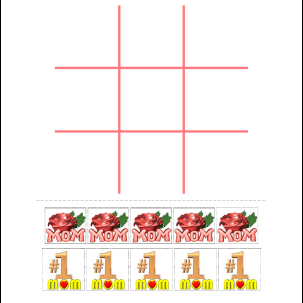 Mother's Day tic-tac-toe printable