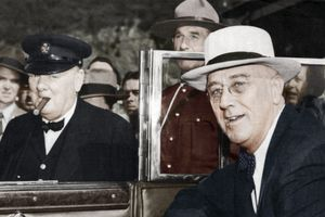 Franklin D Roosevelt and Winston Churchill