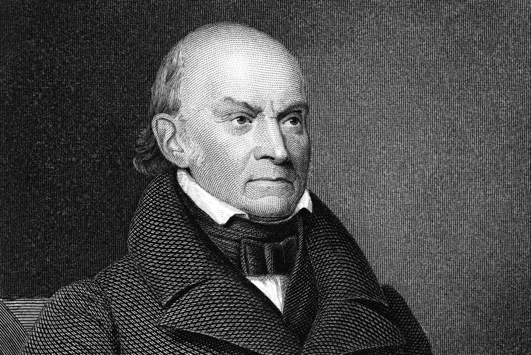 Engraved portrait of John Quincy Adams