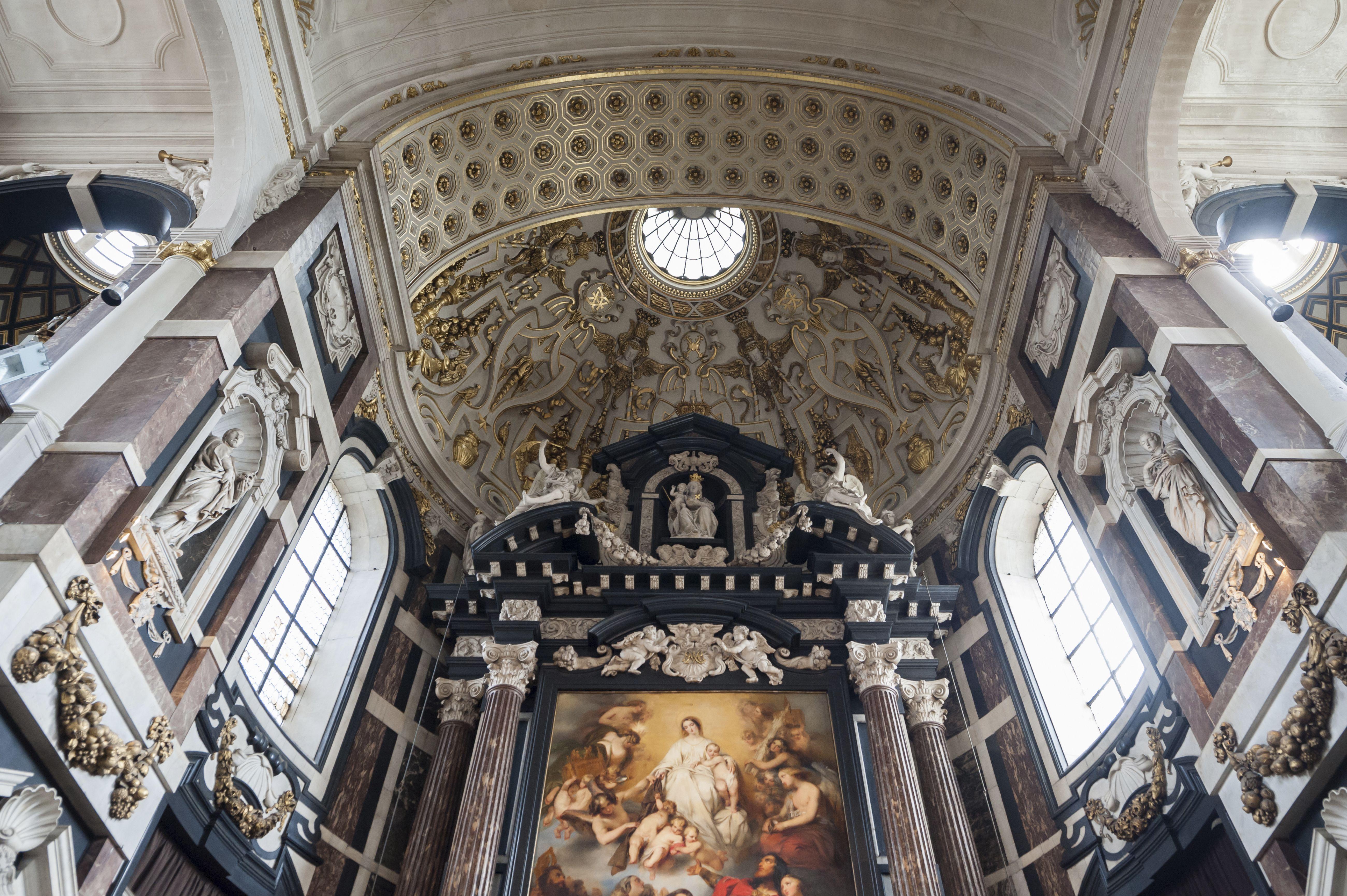 Interior of the St. Carolus Borromeus Church, c. 1620, Antwerp, Belgium