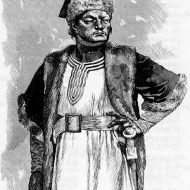 Atli (Attila the Hun) in an illustration to the Poetic Edda.