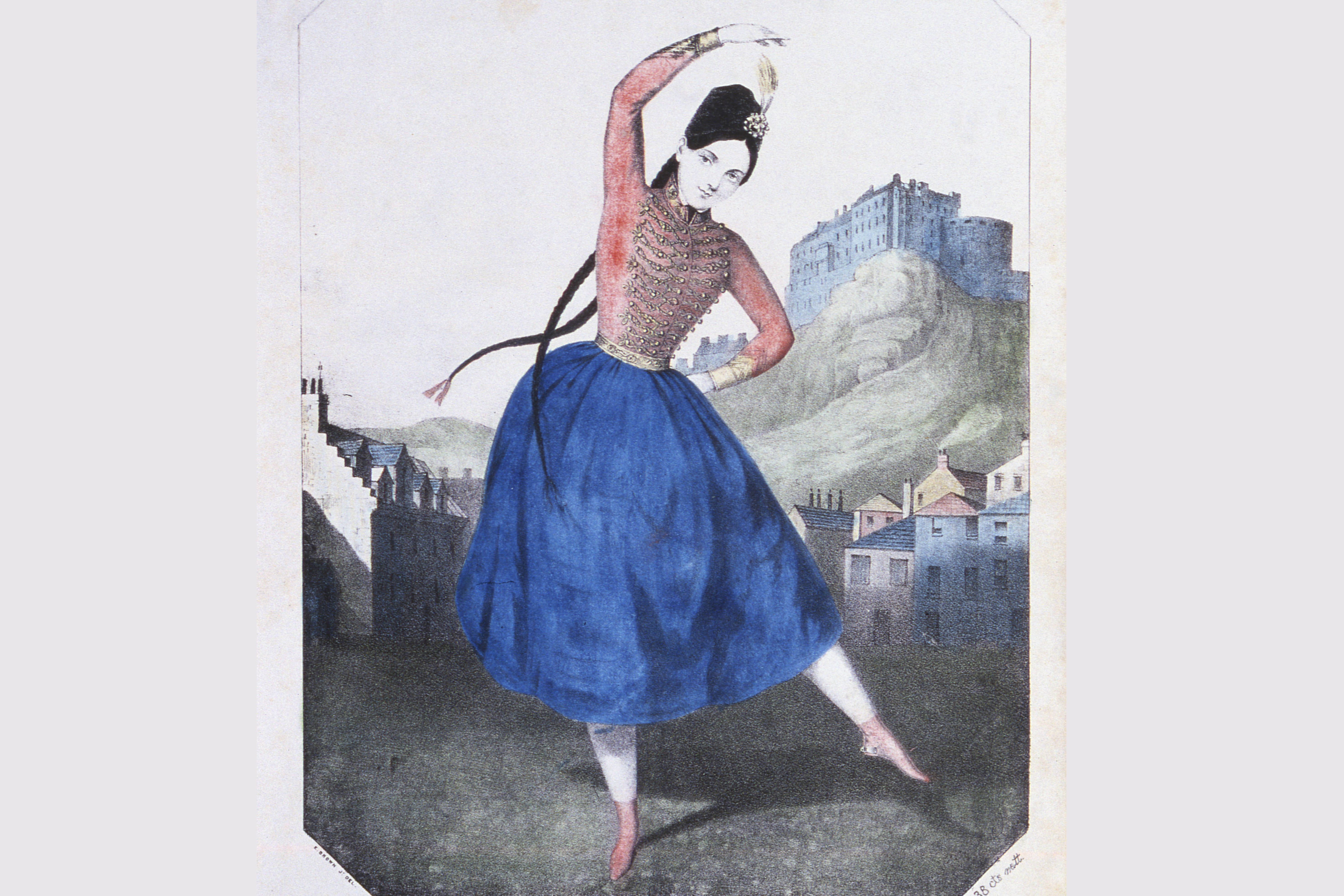 Fannie Elssler and her Cracovienne Dance, music cover, 1850