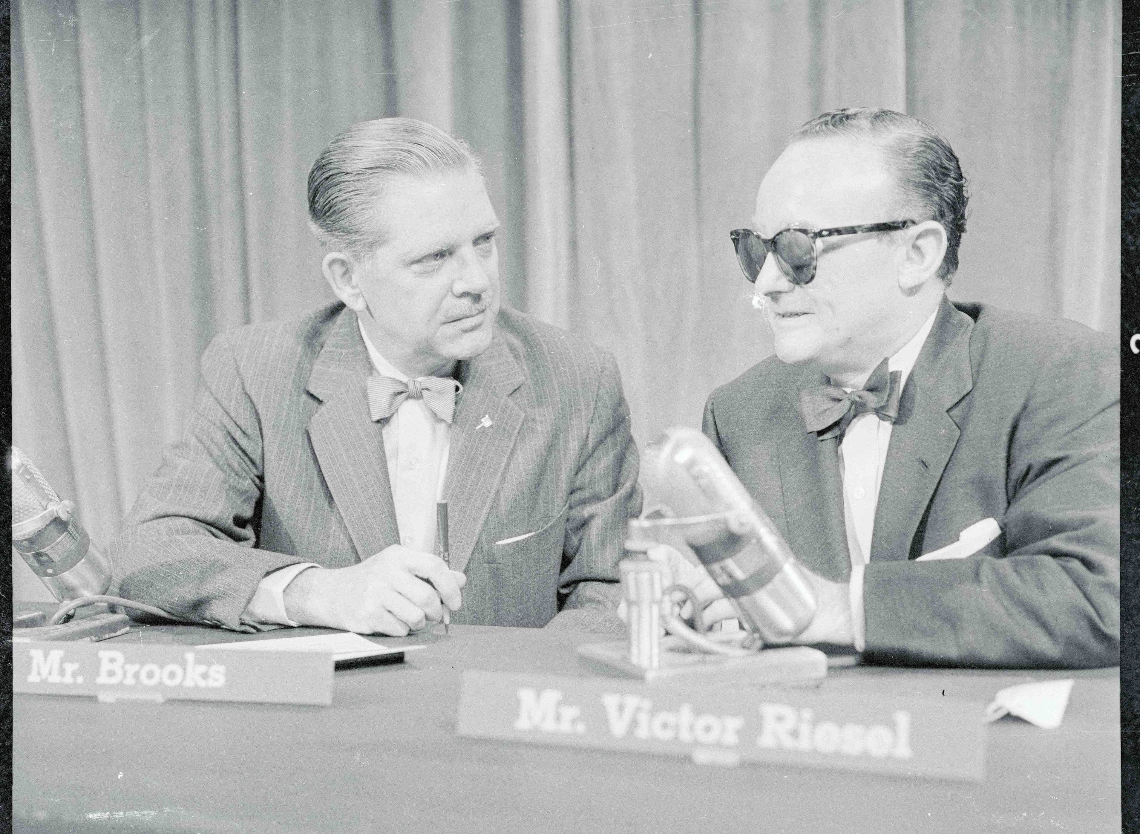 Portrait of Victor Riesel and Ned Brooks