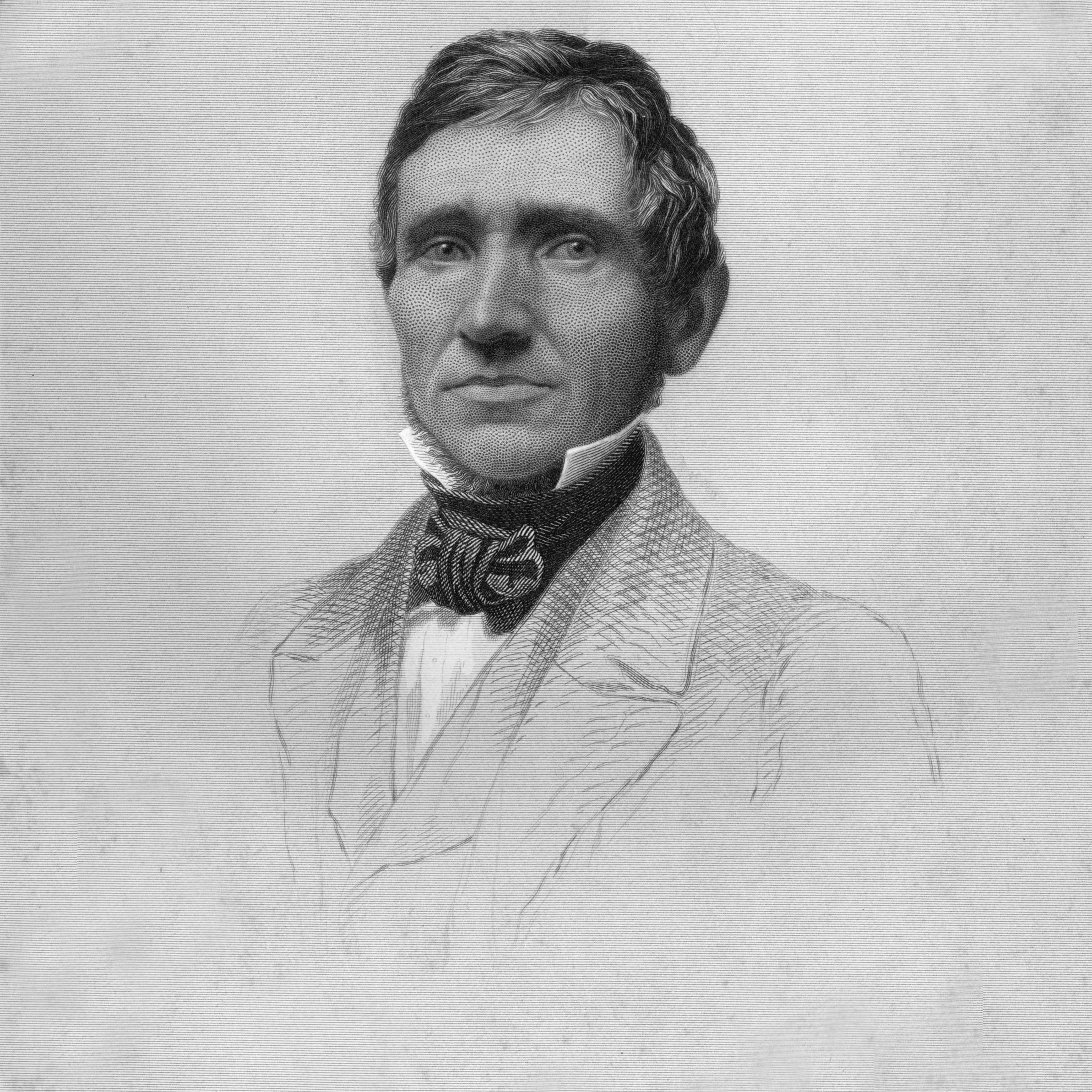 circa 1845: Portrait of American inventor Charles Goodyear (1800 - 1860).