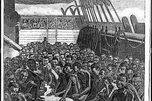 Illustration of slave decks on the Slave Bark Wildfire