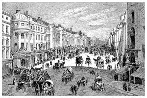 Illustration of London, Regent street, ca 1900