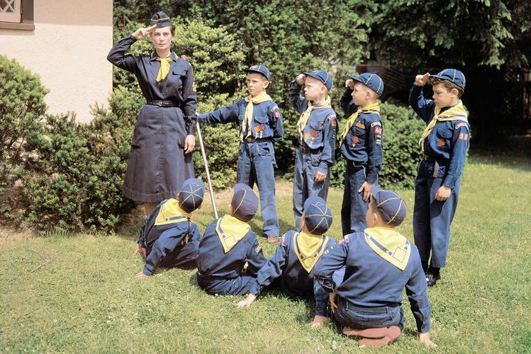 A troop of cub scouts