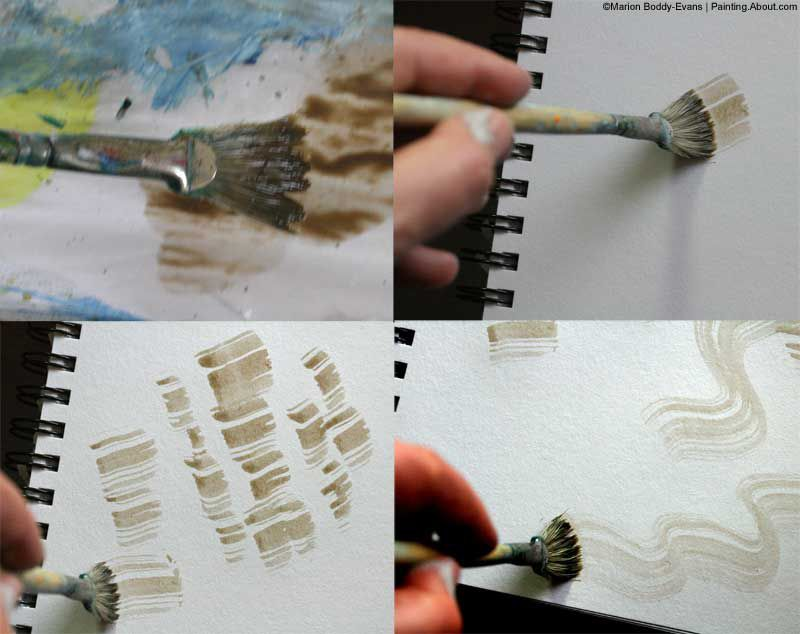 painting trees with a fan brush step by step acrylic - 800×634