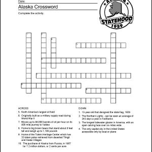 Alaska Crossword Puzzle