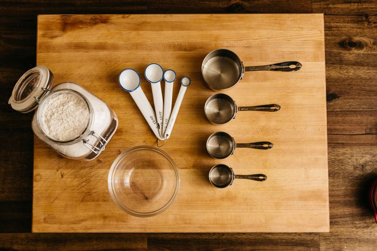 Baking Supplies on a Butcher Block