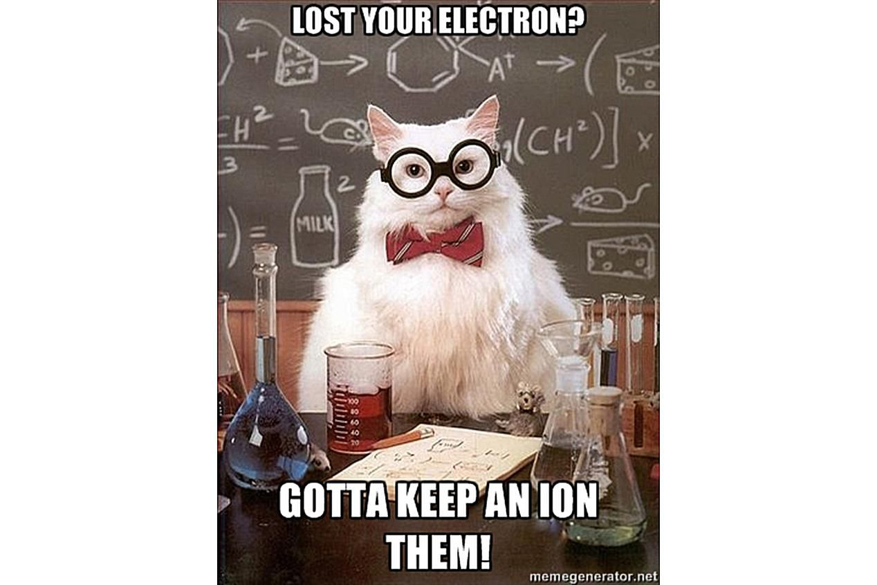 Chemistry Cat has advice on keeping track of your electrons.