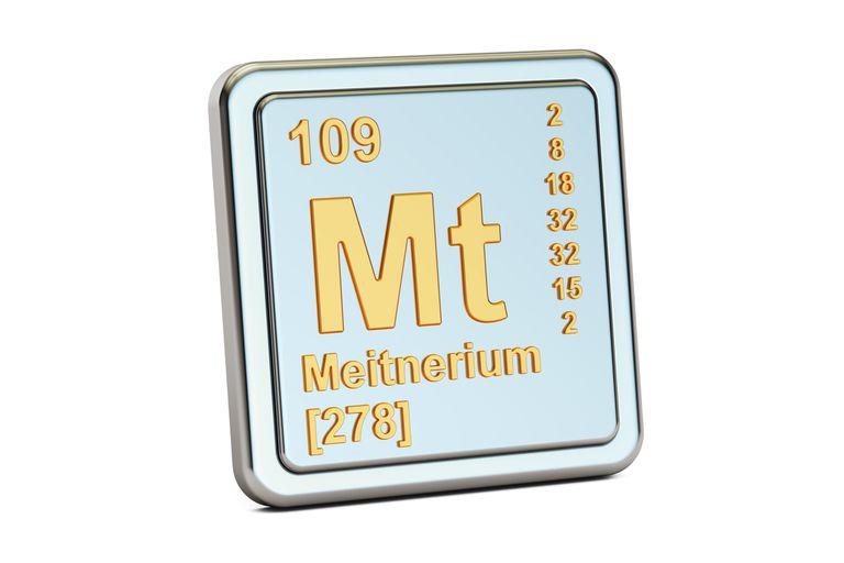 Meitnerium element tile