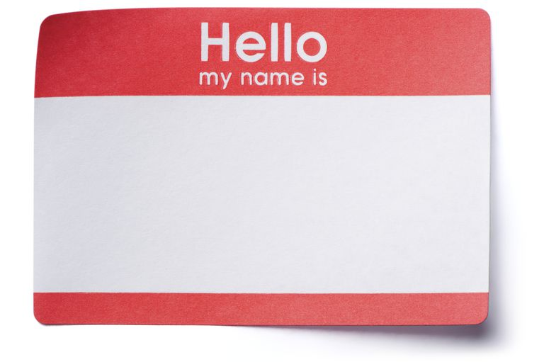 Hello Name Tag Sticker