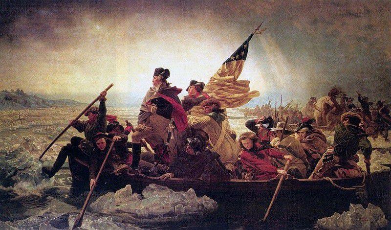 Washington Crossing the Delaware by Emanuel Leutze, 1851