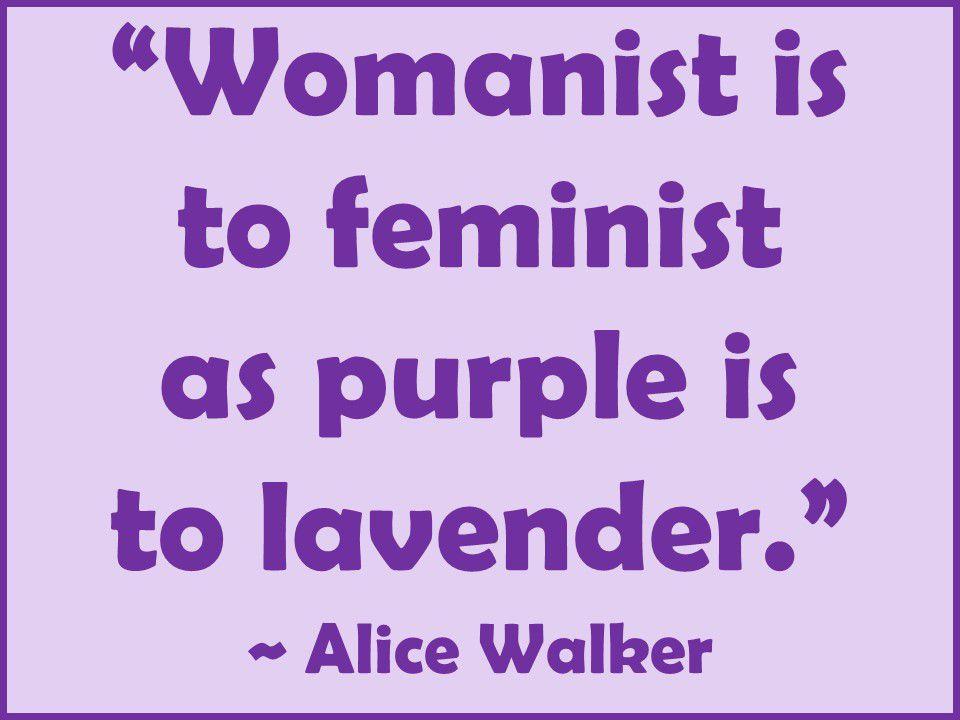 Alice Walker's Term For Black Feminist