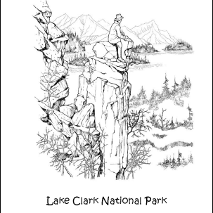 Lake Clark National Park Coloring Page