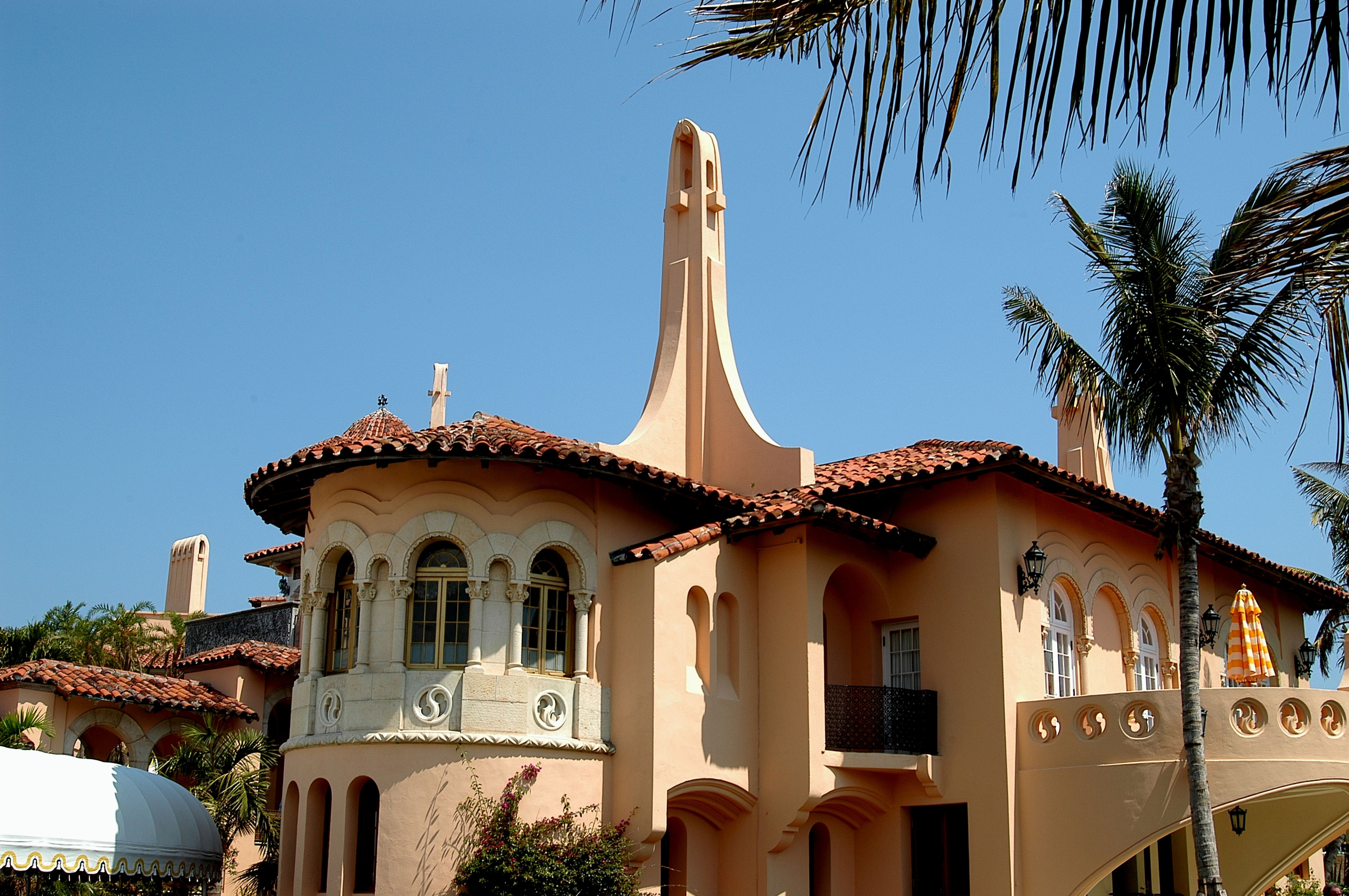 Exterior view of the south side of the Mar-a-Lago estate