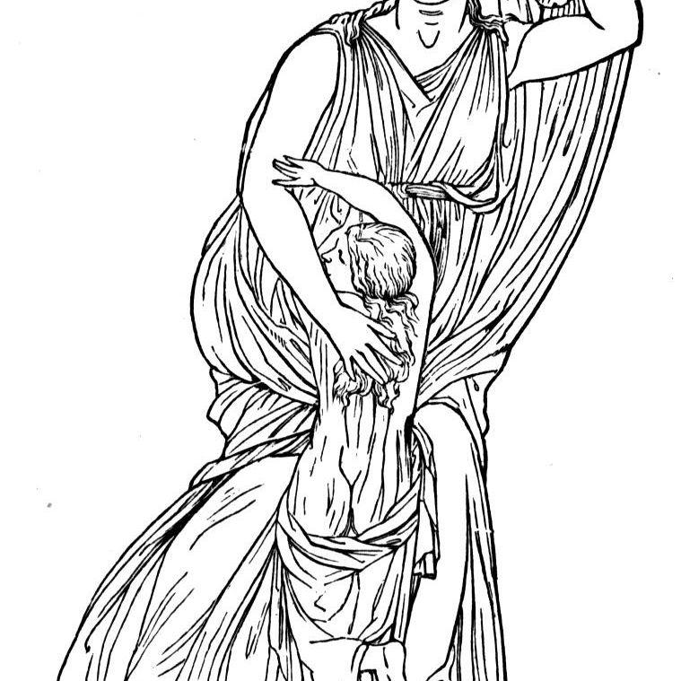 Niobe Clutching a Child