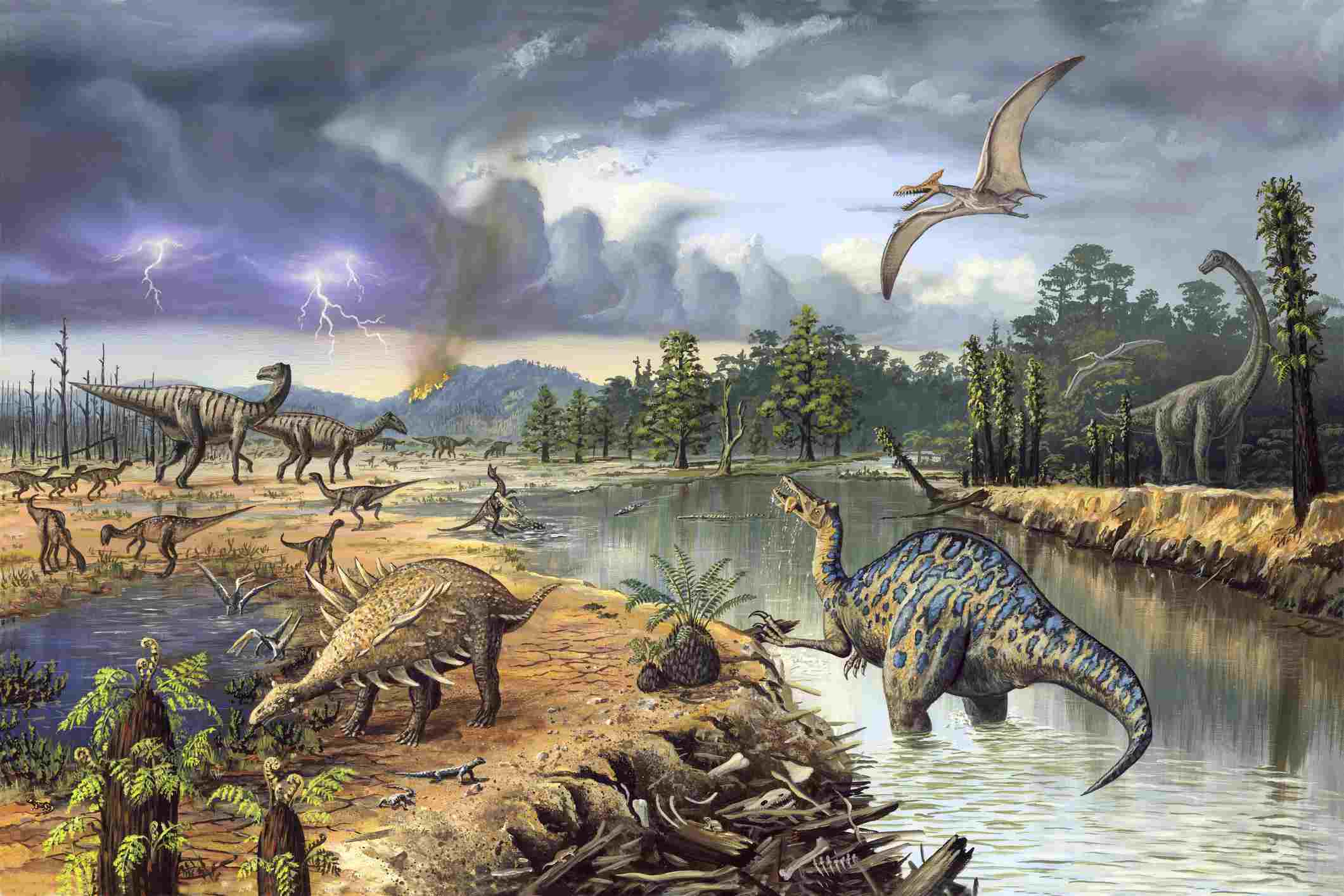 Early Cretaceous life, artwork