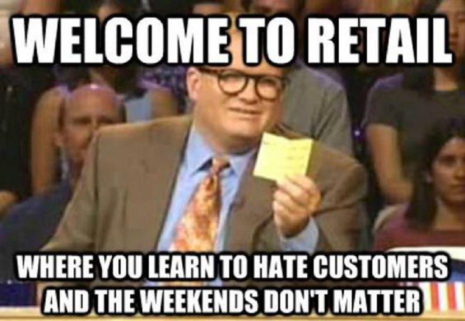 Image result for retail memes