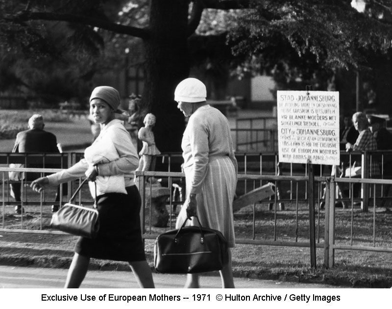 Exclusive Use of European Mothers sign -- 1971