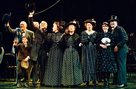 Actors in the cast of the Broadway revival of the Thornton Wilder classic 'Our Town.'