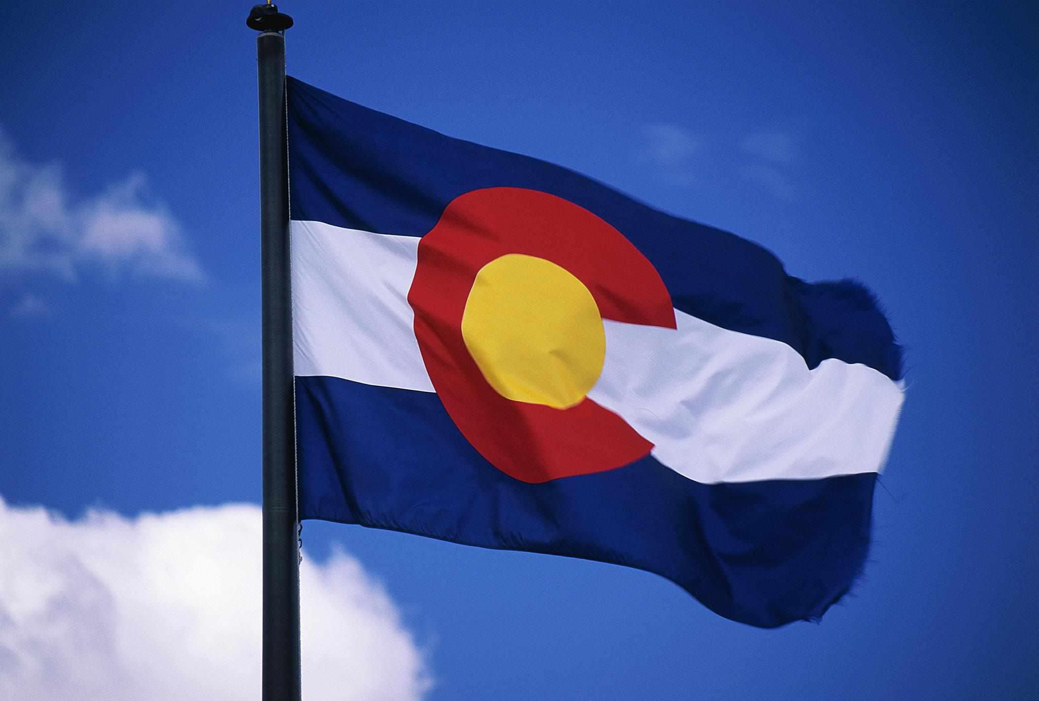 Colorado flag - Fotosearch - GettyImages-124279649