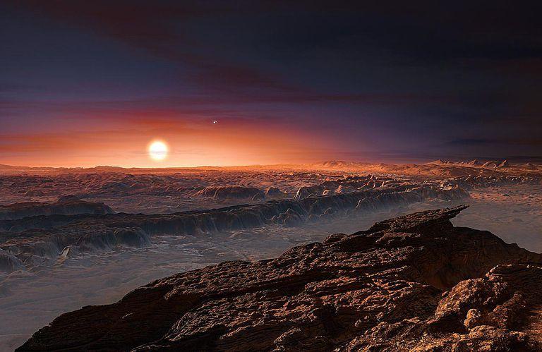 view from Proxima Centauri b