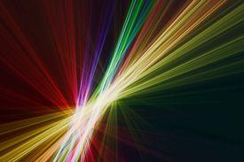 Linear multicolor fractal lines