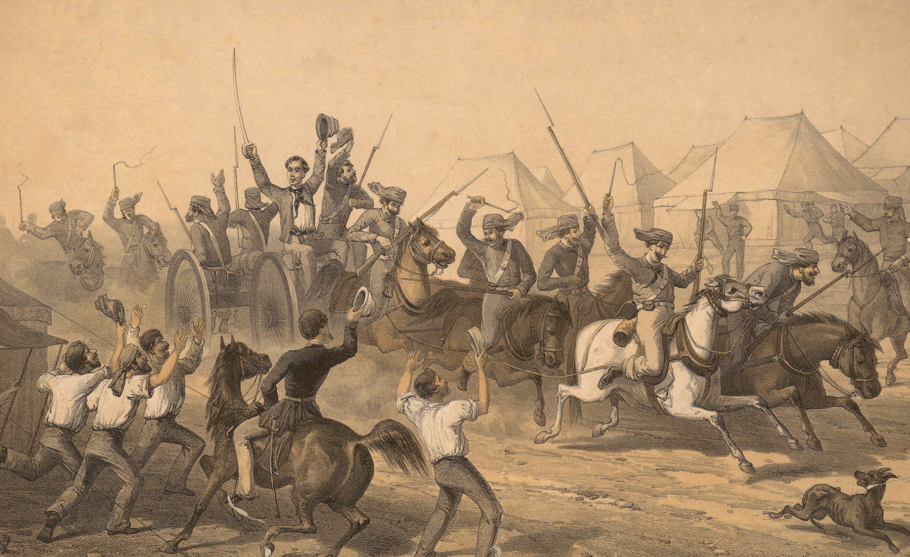 British Troops in Delhi During the 1857 Rebellion