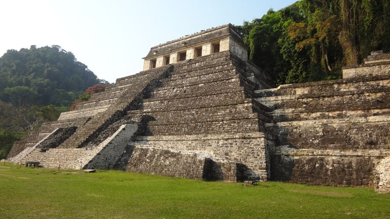 Maya Temple of the Inscriptions at Palenque