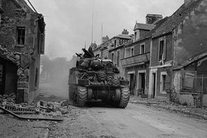 Fighting during the Battle of Caen, 1944