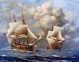 USS Constellation during the Quasi-War with France