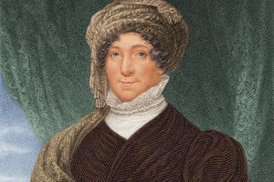 circa 1830: First Lady Dolley Madison (1768 - 1849), nee Payne, the wife of American president James Madison and a renowned Washington socialite.