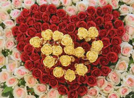 A heart made of roses