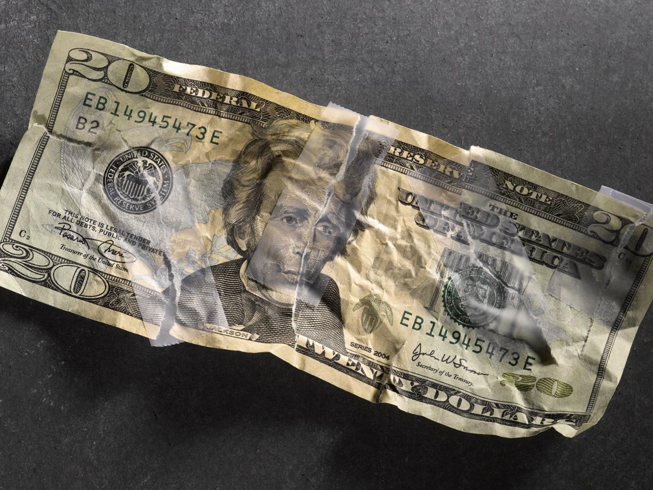 Replacing Damaged And Torn Us Currency